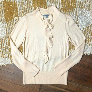 Classiques Entier Ruffle Front Sweater Size Medium